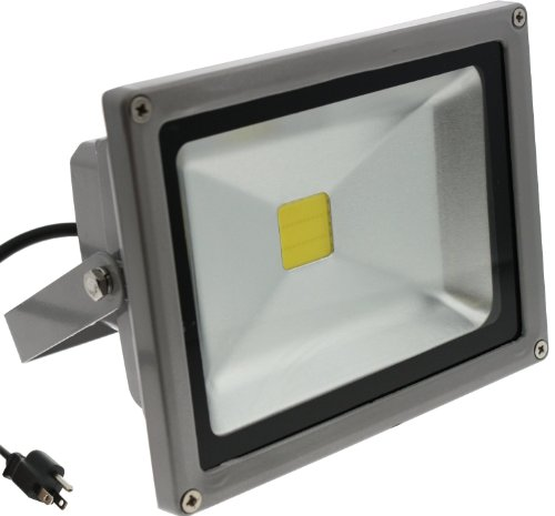 Techno Earth F50K 90-240V 120-Degree Beam Angle Landscape Outdoor Waterproof 50W LED Flood Light Lamp, Cool White