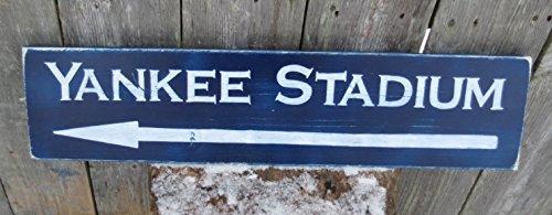 Yankee Stadium Wood - Hand Painted Yankee Stadium Wood Sign Vintage Memorabilia Baseball Reproduction