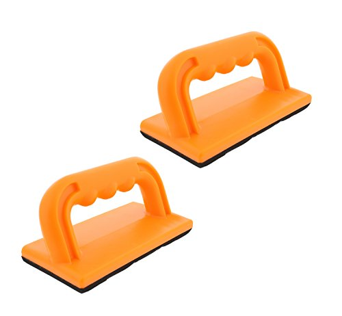 DCT Wood Cutting Push Up Stick Block 2-Pack Set - Angle Handle Foam Pad Holder Blocks for Cutting on Jointer, Table Saw