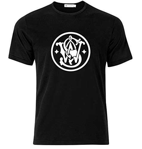 Smith and Wesson Gun T-Shirt - Gorgeous Design - Premium Cotton T-Shirt for Men and Women (Large) Black (Smith And Wesson Extreme Ops Knife Swa3)