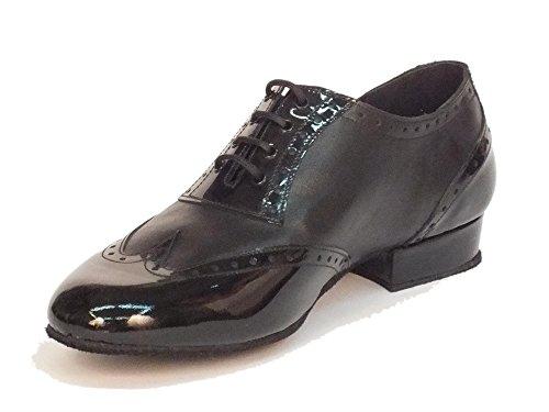 Vitiello Dance Shoes 10B Nappa/Vernice nero t20 fondo crosta - Zapatillas de danza de Piel para hombre Negro negro negro