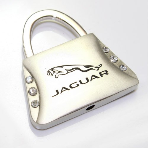 Jaguar Logo Metal Purse Shape Crystal Diamond Bling Key Chain Ring by Jaguar
