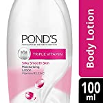 POND'S Triple Vitamin Moisturising Body Lotion, Gives 3x Moisturisation For Soft, Smooth, Radiant Skin in Winters, 100…