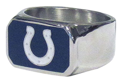 NFL Indianapolis Colts Unisex Siskiyousteel Ring, Steel, Size 13 (Siskiyou Nfl Ring Gifts)