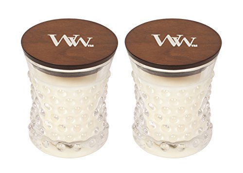 WoodWick Vintage Hobnail Candle Set - Linen (Scented Linen Candles)