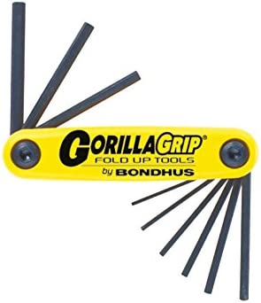 Bondhus 12591 GorillaGrip Set of 9 Hex Fold-up Keys