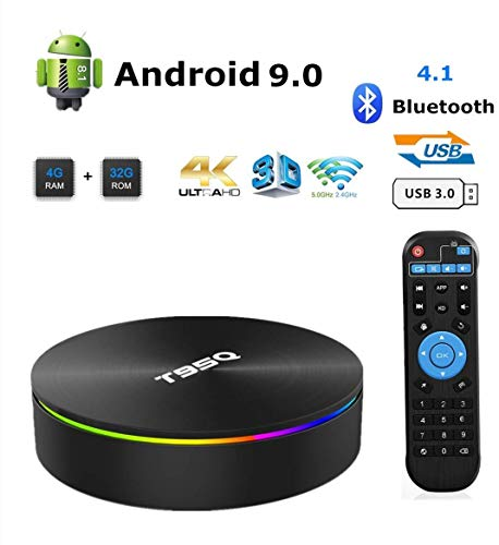 Android TV Box, 8.1 Smart Box 4GB RAM 32GB ROM Network Set Top Box Amlogic S905X2 Quad-core Cortex-A53 Support 2.4G/5G Dual Band WiFi 1000M Ethernet/Bluetooth 4.1/H.265 Decoding/4K HDR