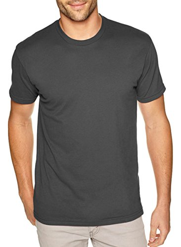 Next Level Apparel 6410 Mens Premium Fitted Sueded Crew Tee - Heavy Metal44; 2XL from Next Level