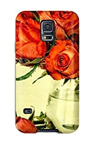 Awesome Flower Flip Case With Fashion Design For Galaxy S5