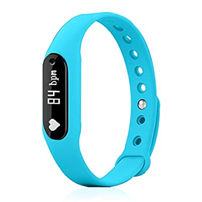 ELEGIANT Fitness Tracker, Smart Bracelet Wireless Activity Wristband Sports Watch Bluetooth for Android iOS with Steps Tracking Calories Burned Sleep Monitor Heart Rate etc. Blue