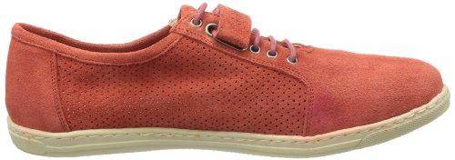 de mujer S de cordones Rojo Zapatos 7352 cuero Coral Rot Sida Jonny's para pzqYE