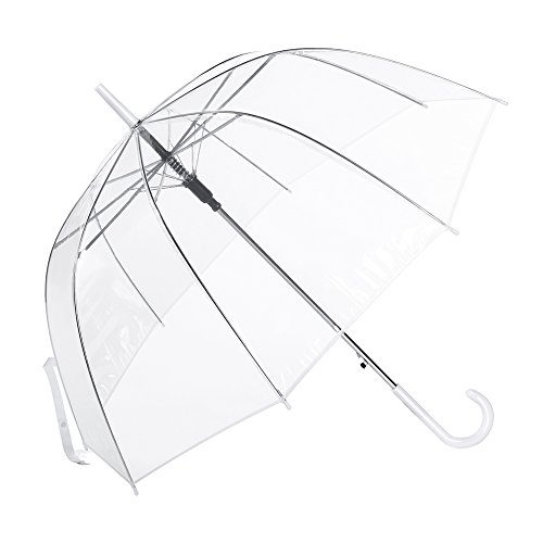Clear Umbrella, Mirviory Transparent Bubble Dome Umbrella, Lightweight Easy Carrying Suitable for Women and Girls, Wedding Decoration Umbrella ()
