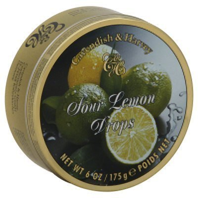Sour Lemon Candy (Cavendish & Harvey Fruit Tin - Lemon, 5.3-Ounce)