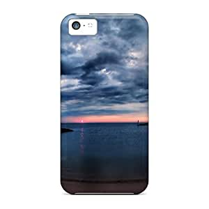 New Diy Design Wonderful Beach Sunset For Iphone 5c Cases Comfortable For Lovers And Friends For Christmas Gifts