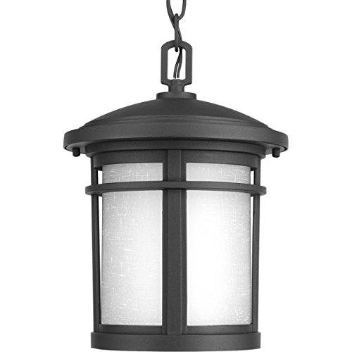 Progress Lighting P6524-3130K9 Traditional/Casual 1-17W Led Hanging Lantern, Black (Traditional Outdoor Pendant Light)