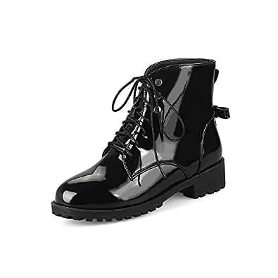 BalaMasa Womens ABS13872 Block Heel High-Top Mule Black Pu Boots - 2 UK (Lable:33)