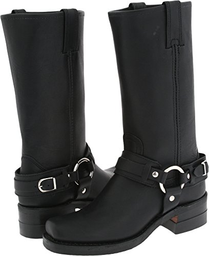 FRYE Women's Belted Harness 12R Black Leather Boot 6 B (M)