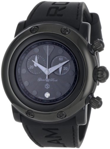 Glam Rock Women's GR62118 Miami Beach Black Dial Black Silicone Watch