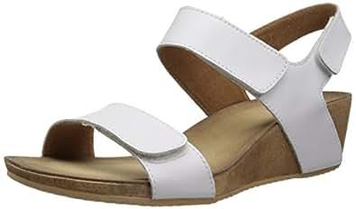 Clarks Women's Alto Madi Wedge Sandal, White, 12 M US