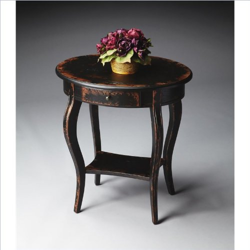 Butler Home Decor Oval Accent Table Finish Type - Moderate Midnight Rose