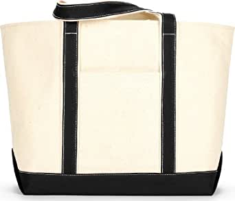 Liberty Bags 8872 Carmel Xl Boat Tote, Natural & Brown - One Size