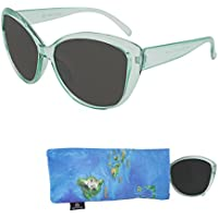 Sunglasses for Teens – Stylish Smoked Lenses for Teenagers - Reduces Glare, 100% UV Protection - Shiny Crystal Frame - Pouch Included - Ages 12 to 16 - By Optix 55