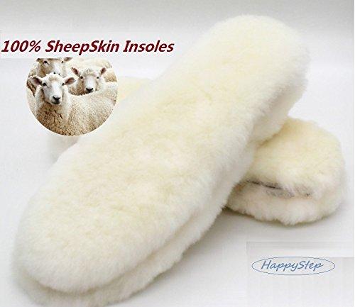 HappyStep® Shearling Sheepskin Winter Insoles, Material: Sheepskin - Wool - Fleece, Size 9, Women by Happystep (Image #6)