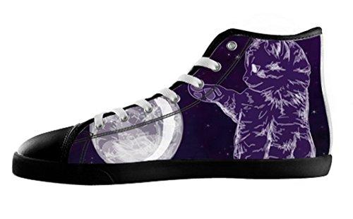Menns Katter Galaksen Lerret Høy Topp Sko Katter Galakse Lerret Shoes17