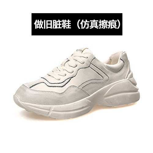 Mode Sports QQWWEERRTT beige Chaussures Vieux Femmes Thick Blanches Chaussures New de Vieux Soled Petites High Sale Chaussures q0aE0Rn