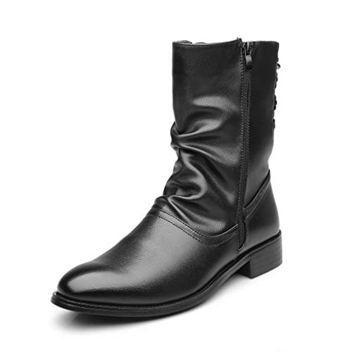 Giles Jones Men Combat Boots Autumn Winter Fashion Breathable Comfort Motorcycle Boots
