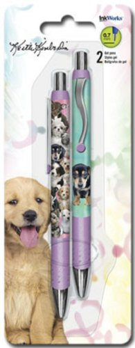 InkWorks Keith Kimberlin Puppies Gel Pens (Writing Pen Dog)