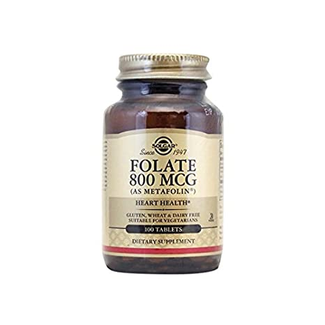 Solgar - Folate (Metafolin)800 Mcg, 100 tablets: Amazon.es: Salud y cuidado personal
