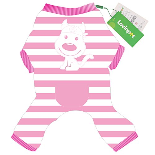Adorable English Bulldog Puppy (Dog Pajamas Adorable Warm Cute Pjs Cotton Fabric Elastic Clothes with Snap Button For Small Medium Dog like Yorkie, Chihuahua, Pomeranian, Maltese etc. Pink XL LovinPet Onesie for Dog)