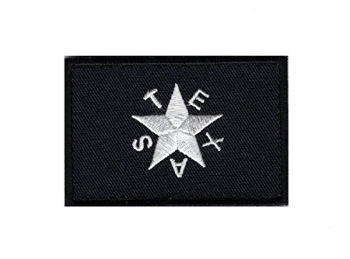 Black Texas Star Flag Revolution Lone Star TX Tactical Hook