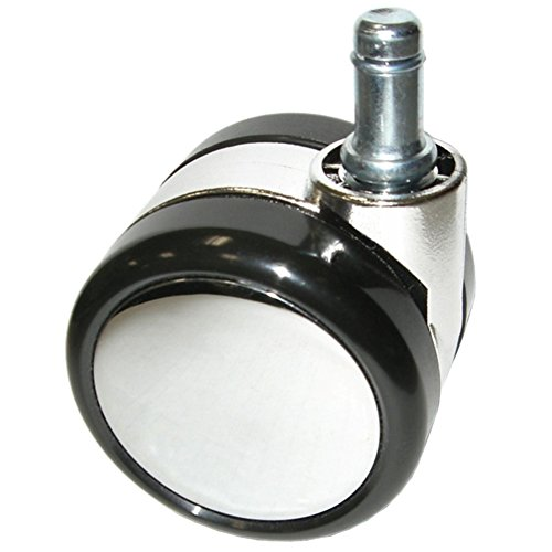 Ergo360 Large Chrome Casters, Chair Wheels with Soft Treads for Hardwood, Carpet, Tile, Etc. Sets of 5.