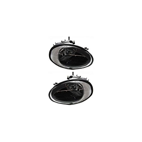 Headlight Set Of 2 for Ford Taurus 98-99 Right and Left Side Assembly Halogen From 6-10-98 ()