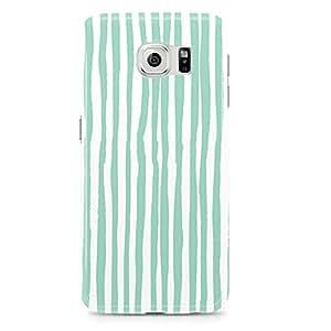 Samsung Galaxy S6 Edge Case Confetti Pattern Green And White-Hard Plastic Tough Wrap Around Phone Cover
