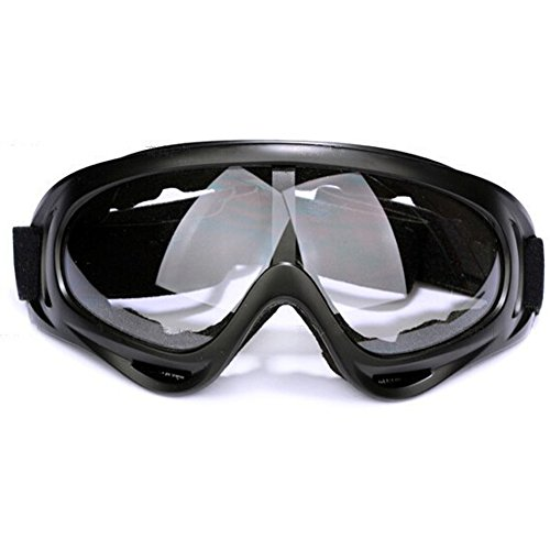 Adjustable UV Protection Windproof Dustproof Outdoor Sports Ski Glasses,Snowboard Goggles Skate Glasses ,CS Army Tactical Military Goggles to Prevent Particulates (Clear)