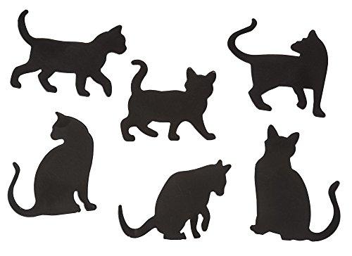 Fridge Magnets - Set of 6, Cat Refrigerator Magnets, Magnetic Kitty - Magnets Fridge Womens Refrigerator