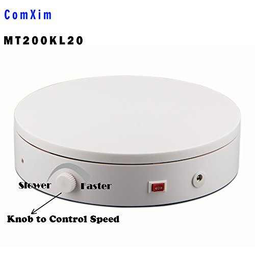 ComXim 360 Degree Photography Turntable for Product Shooting, 44LB Capacity, 7.87in Diameter, Knob Control Speed, Jewelry,shoes,bag shooting and - Table Product Photography