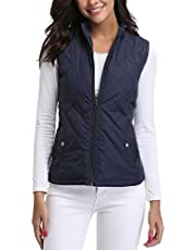 Miss Moly Women's Gilet Stand Collar Lightweight Quilted Vest Jacket