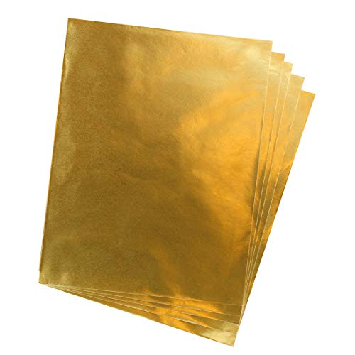 Hygloss Products Metallic Foil Paper Sheets – 10 x 13 Inch, 50 Sheets – Gold -
