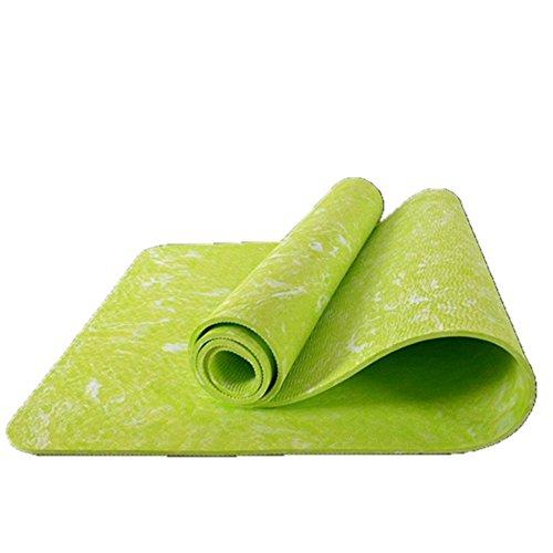 SiGaMEN Non-Slip Exercise Fitness Yoga Mat Eco-friendly Tasteless Pilates Body Building Mat 185620.6cm Light Green - Chalet Heels