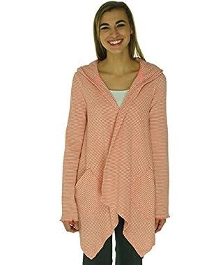 Calvin Klein Women's Draped Thermal Open-Front Hood Orange