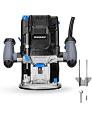 Hammerhead 10-Amp Variable Speed Plunge Woodworking Router Kit with Parallel Guide and Vacuum Adaptor – HAPR100