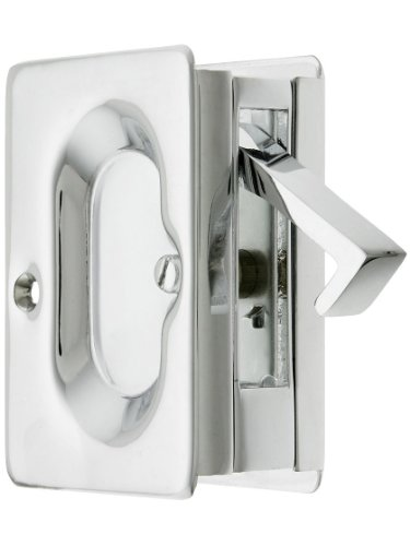 Century Pocket Door Passage Set In Polished Chrome ()