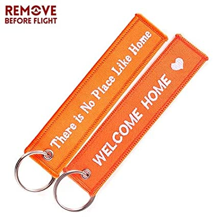 Amazon.com: Key Rings Remove Before Flight Key Chain Luggage ...