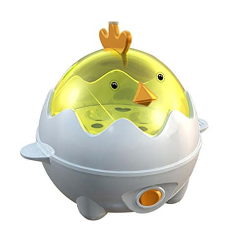 Eierkocher - Ourmall Multifunktions-Eierkocher, Eierkocher Wilderer, Gebäck Dampfgarer 7 Eier Kapazität mit CE, Rohs Bescheinigung (Gelb)