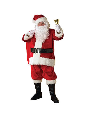 Regency Plush Santa Suit Adult Costume - XX-Large (Suit Regency Santa)