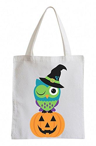 Raxxpurl Halloween Fun Kürbiseule sacchetto di iuta